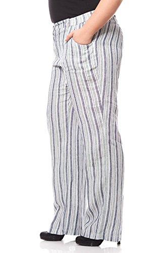 Taille Grande Lin Blanc Femme Ray en KjBrand Pantalon gSwaqR