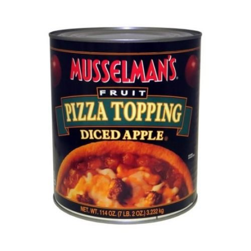 Knouse Foods Musselmans Diced Apple Pizza Topping, 114 Ounce -- 6 per case.