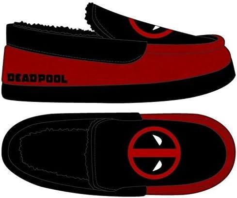 bioworld Deadpool Slippers Marvel Footwear Deadpool Apparel Marvel Slippers Deadpool Footwear