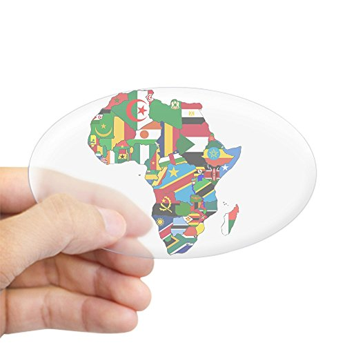 CafePress - Flags of Africa Sticker (Oval) - Oval Bumper (Africa Bumper)
