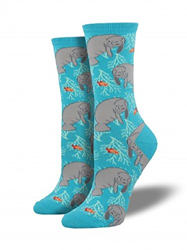 Socksmith Women's Oh The Hu-Manatee Bright Blue One Size