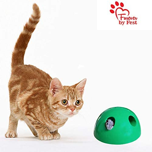 Furever 3 Replacement Cat Toy Attachments to use with The Pop and Play; Includes One Mouse, One Fish and One Feather. Ideal for Your cat, Interactive Way. Best Cat Toys Ever 7