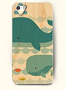 OOFIT Phone Case Design with Whales and Fish for Apple iPhone 5 5s 5g