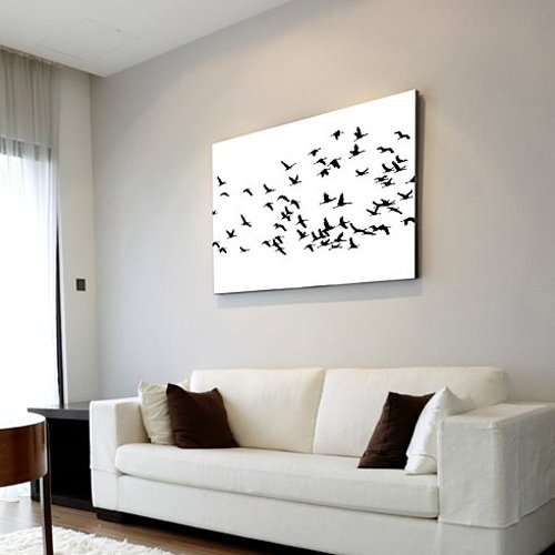 Flock of Cranes Stencil - Wall Stencils for DIY Decor