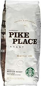 Starbucks Pike Place Roast Whole Bean Coffee 1 Pound