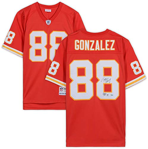 Tony Gonzalez Kansas City Chiefs Autographed Mitchell & Ness Red Replica Jersey with