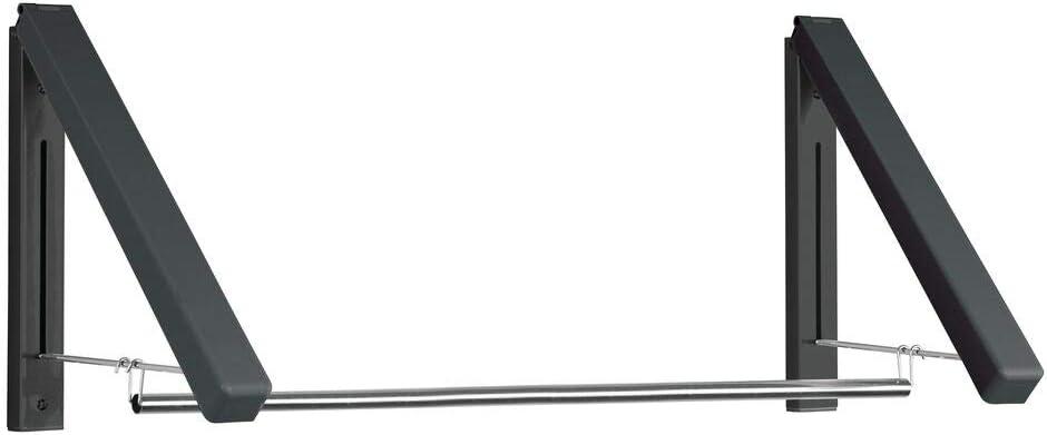 Bianco mDesign Appendiabiti chiudibile in metallo il bagno o la camera da letto Pratico gancio appendiabiti da parete Gancio da parete pieghevole per lingresso