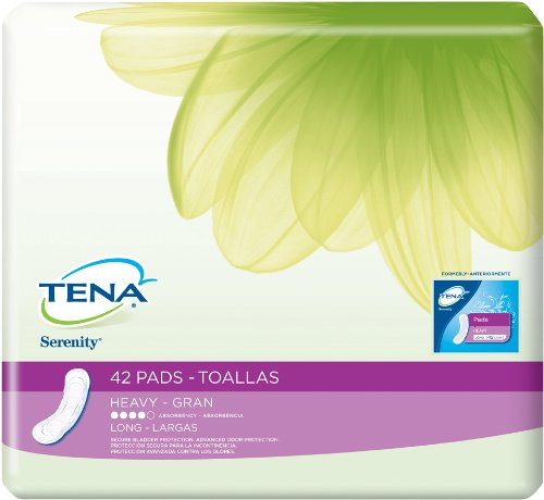 TENA Serenity Heavy Long Pads, 42 Count