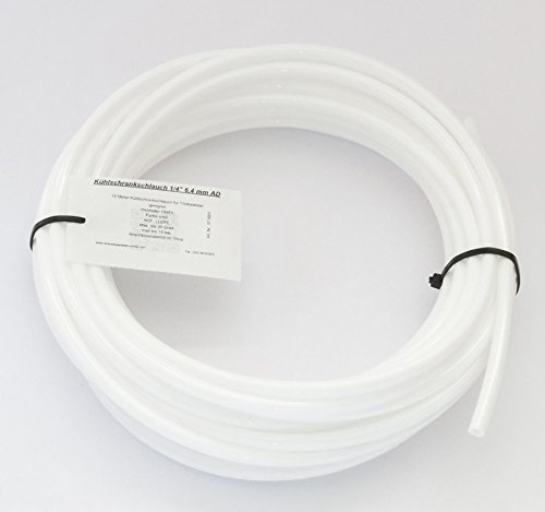 10 Meter Kühlschrankschlauch WEISS 6,4 mm (1/4