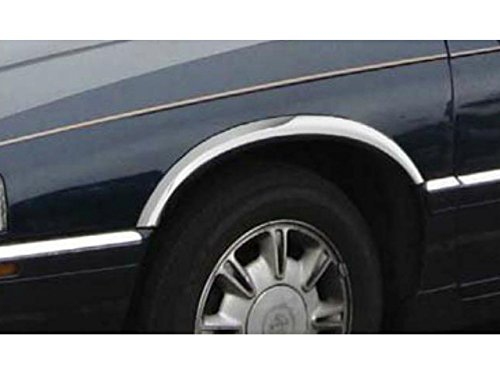 QAA FITS ELDORADO 1992-2004 CADILLAC (4 Pc: Stainless Steel Fender Trim - Clip on or screw in, hardware included - 2.75