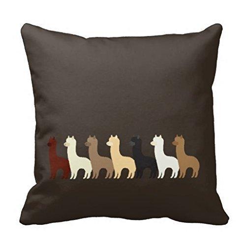 Alpaca Pillow Creative Fashion Polyester Square Decorative Throw Pillow Cover 18 x (Alpaca Pillows)