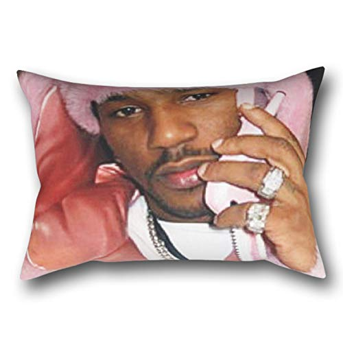 LVTIAN Cam'Ron Pink Fur Mood Rectangular Pillowcase Protector Cover 20x30 Inch