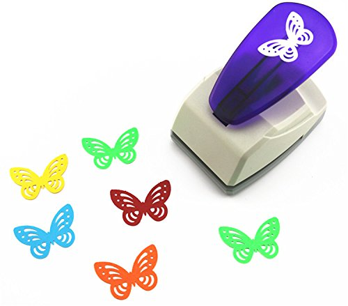 CADY Crafts Punch paper punches Creative Life Crafts Engraving Hole Punch 2-Inch -DIY Paper Punch for Card Scrapbooking Craft Punch Embossing Border School Supplies (Butterfly-1)