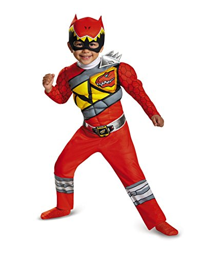 [Little Boys' Red Power Ranger Dino Charge Muscle Halloween Costume] (Awesome Toddler Halloween Costumes)