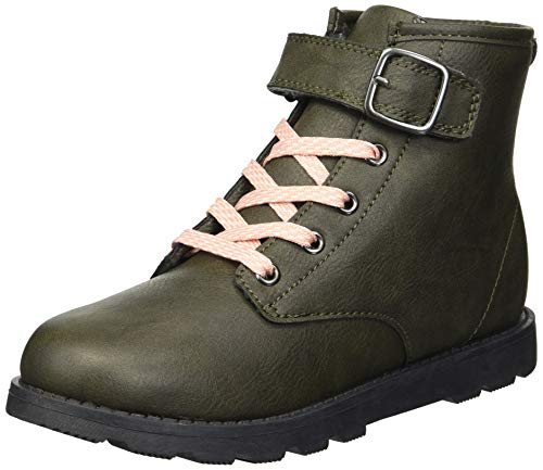 Carter's Girls' Cory Ankle Boot, Olive, 1 M US Little Kid