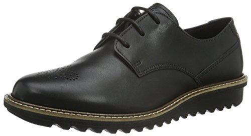 Mujer Flatform Para Brogue De Touch Zapatos Ecco Negro black1001 Cordones Pqwg0Sp