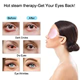 alittlecloud Hot/Cold Therapy Silk Eye Mask,Warm