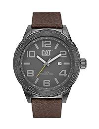 Caterpillar NH.151.35.535 Reloj Análogo de Lujo, para Hombre, gris y café