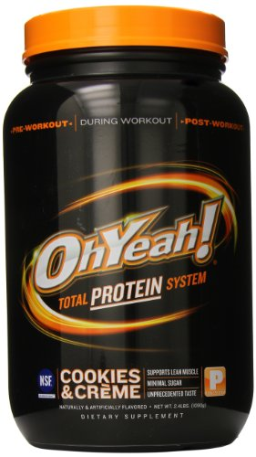 OhYeah! Protein Powder, Cookies and Creme, 2.4 Pound
