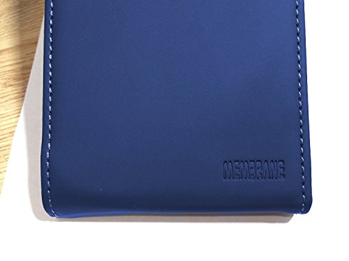 Membrane Funda Samsung Galaxy J1 2016 / J1 2016 Duos Carcasa Negro Ultra Slim Case Flip Cover Slim Azul