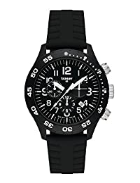 Traser Officer Chronograph Pro, Silicone with safety clasp Strap, Black, 46mm, 107101