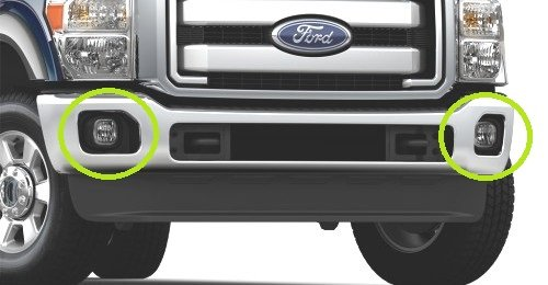 - Oem Factory Stock Genuine 2011 2012 2013 2014 2015 Ford Super Duty XLT F-250 F-350 F-450 F-550 Front Bumper Fog Lights Light Lamps Lamp Add On Kit