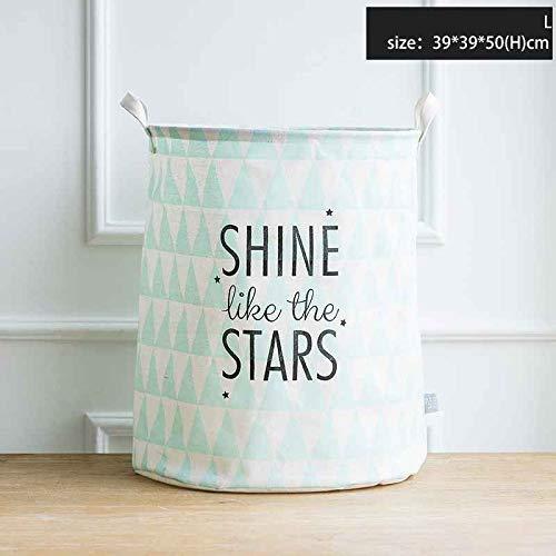 AZUDAN |Laundry Bags & Baskets|Mint Green Laundry Bag Storage Bag Bathroom Clothes Fabric Storage Basket 2 Sizes (Wholesale Wicker Hampers)