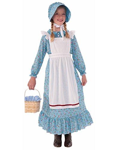 Forum Novelties Girls Pioneer Costume, Blue, Medium - stylishcombatboots.com