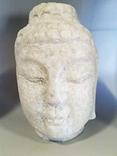 Stone Marble White Buddha ()