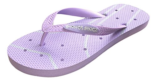 1cbadbdeba2e Shower Shoez Women s Antimicrobial Non-Slip Pool Dorm Water Sandals Flip  Flops
