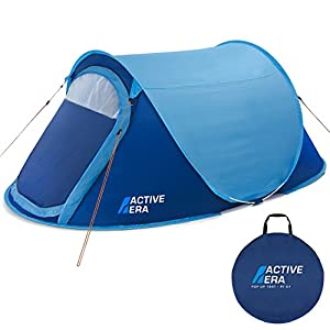 Active Era® Pop Up Tent – 2 Layer Waterproof 2 Person Pop-Up Tent – 100% Storm Tested with Advanced Ventilation and Easy…
