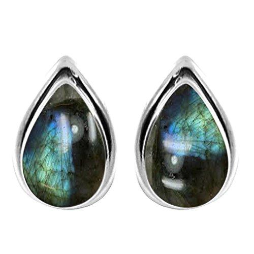 3 10ctw Genuine Gemstones Silver Earrings