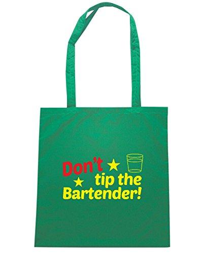 T-Shirtshock - Bolsa para la compra BEER0204 Don t TIP the bartender Verde