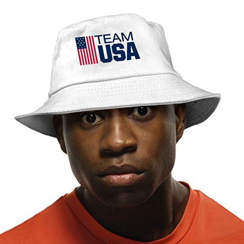 (Zol1Q Fashion Summer Fisherman Cap Cute Team USA Boxing Bucket Hat Unisex White)