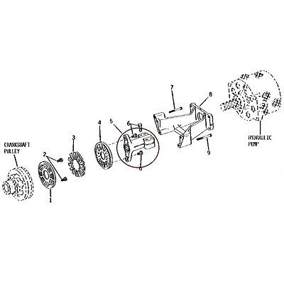 T128296 New John Deere Hydraulic Pump Drive Shaft Coupler 300B 410 510 670 770 +