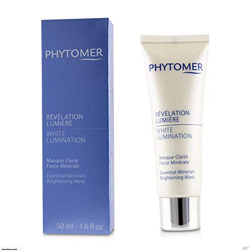 By Phytomer Whitening Mask - Phytomer - White Lumination Essential Minerals Brightening Mask - 50ml - Luxurious Creamy Mask With Shine - Contains Sea Lily Extract - Reduces The Size And Pigmentation Of Blemishes - Hong Kong