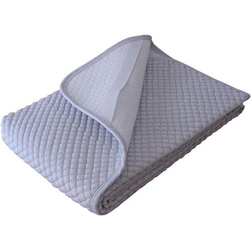 日本製 敷きパッド 洗える 夏用汗取りパット ワッフル生地のぽこぽこキルト (シングル105×205cm, ブルー) B00Y08XWU8 シングル105×205cm|ブルー ブルー シングル105×205cm