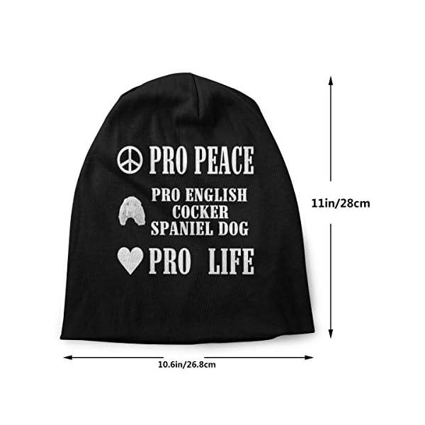 Pro Peace Pro Life Pro English Cocker Spaniel Dog Unisex Knit Hat Soft Stretch Beanies Skull Cap Hedging Cap,Beanie Hat 2