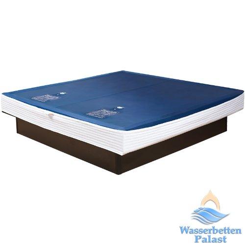 Premium Comfort Wasserkern für Wasserbett oder Wasserbettmatratze - eine Seite für Bettgröße 180x200 cm - Bettaufbau: Dual - Softsideumrandung: innen keilförmig - Höhe innen: 20-23 cm - Beruhigungsstufe 90% / F6