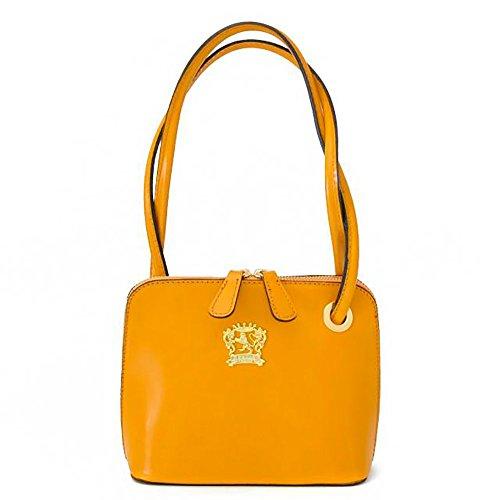 Pratesi Womens Italian Leather Roccastrada Woman Bag in Cow Leather in Mustard by Pratesi