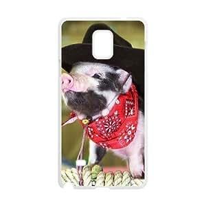 Diy Beautiful Baby Pig Custom Cover Phone HTC One M8 White Shell Phone [Pattern-4]
