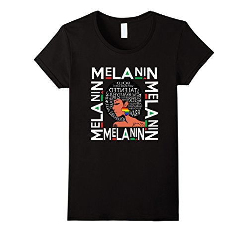 Womens Melanin Afro Queen Shirt Rainbow Africa Pride T Shirt Small Black by Natural Hair Motivated Shirts