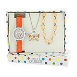 Relda Kids Butterfly Jewellery & Watch, Necklace & Bracelet Gift Set For Girls