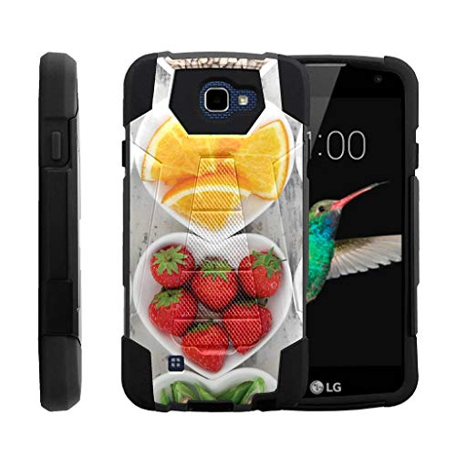 Rebels Snack - TurtleArmor | Compatible for LG K4 Case | Optimus Zone 3 | LG Spree | LG Rebel [Dynamic Shell] Fitted Impact Resistant Dual Hybrid Kickstand Cover Hard Protector Food Image - Healthy Snacks