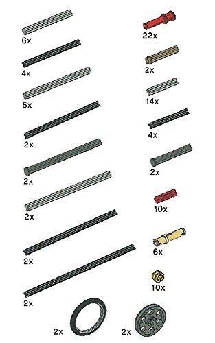 LEGO Technic Axle Rods Assortment Pack (Lego Mindstorms Parts Bulk)