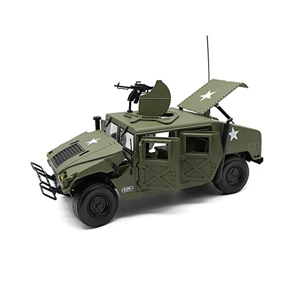Fisca 1/18 Scale Model Car Metal Diecast Military Armored Vehicle Battlefield Truck 4