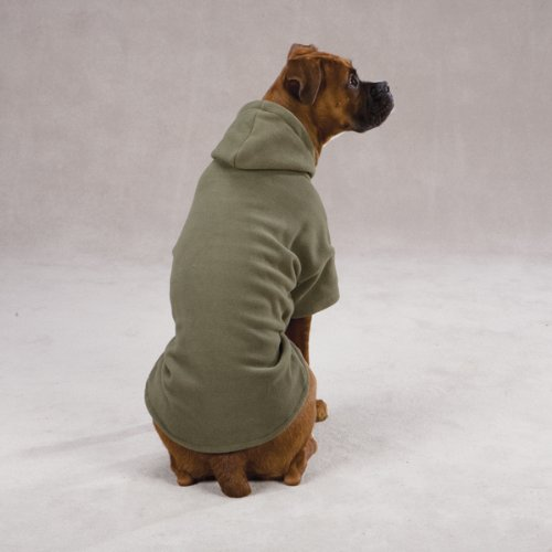 Casual Canine Polyester Basic Fleece 8-Inch Dog Hoodie, XX-Small, Chive