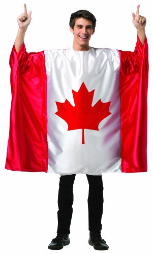 Rasta Imposta Men's Flag Tunic- Canada, Red/White, One -