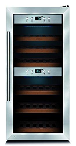 Caso Germany Wine Storage Refrigerator, 24 Bottle, Silver (Lockable Wine Cellar)