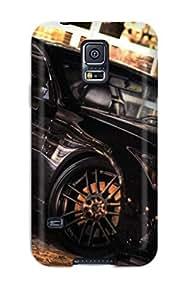 New OnMyvMa860KmhWu Metallic Black Car Tpu Cover Case For Galaxy S5